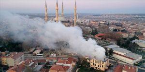 Edirne Müftülüğü binası yangında kullanılamaz hale geldi