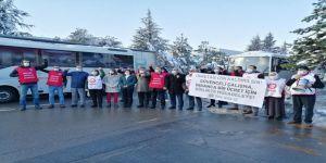 60'a yakın işçinin ücretsiz izne çıkarıldığı Tayaş Gıda'da eylem