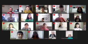 Halk oyunları ekibi eğitimlerine online devam ediyor