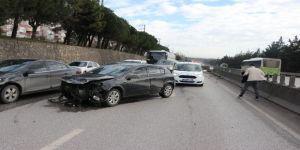 Kocaeli'nin İzmite Trafik kazası 1 Yaralı