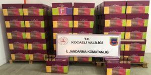 Kocaeli İl Jandarma Komutanlığı 293 koli sahte deodorant ele geçirdi
