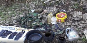 Mardin'de PKK'lı teröristlerce toprağa gizlenmiş malzemeler ele geçirildi