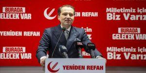Yeniden Refah Partisi Genel Başkanı Erbakan: Üçüncü bir ittifakın omurgasını oluşturmak üzere görüşmeler yapıyoruz