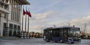 Cumhurbaşkanı Erdoğan'dan elektrikli seri üretim 4. seviye sürücüsüz otobüs paylaşımı