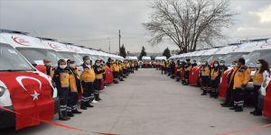 Sağlık Bakanlığınca Diyarbakır'a gönderilen 22 ambulans törenle hizmete alındı
