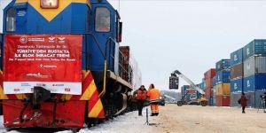 Türkiye- Rusya 'ilk ihracat blok treni' hedefe ulaştı