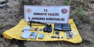 Osmaniye'de PKK'lı teröristlere ait mühimmat ve yaşam malzemeleri bulundu