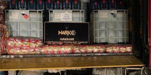 Hakkari'de 3 ton 300 litre asit anhidrit ele geçirildi