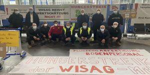 Frankfurt Havalimanı'nda Kovid-19 bahanesiyle işten çıkarılan 230 işçiden 5'i açlık grevine başladı