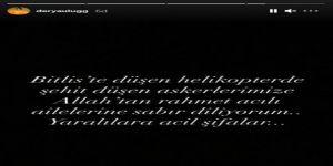 Şehit haberleri yürekleri dağladı  Ünlü isimlerden Bitlis paylaşımları