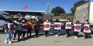 Emek Partisi direnişteki CPS ve Migros Depo işçisi kadınları ziyaret etti