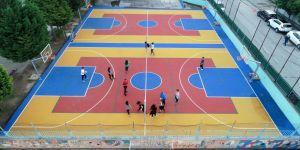 75 okula daha basketbol ve voleybol sahası yapılacak