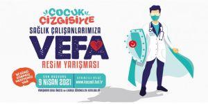 """Büyükşehir'den """"Sağlık Çalışanlarına Vefa"""" resim yarışması"""