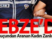 Gebze'de Hırsızlık Suçundan Aranan Kadın Zanlı Yakalandı