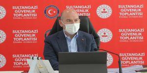 İçişleri Bakanı Soylu Sultangazi'de güvenlik toplantısına katıldı