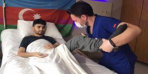 Ermenistan'ın havan saldırısında yaralanan Azerbaycanlı gazi Kocaeli'de şifa arıyor