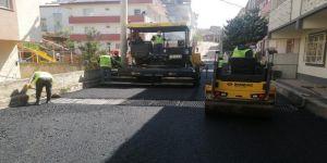 Gebze sokaklarında sıcak asfalt çalışmaları