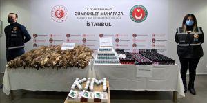 Sabiha Gökçen Havalimanı'ndaki operasyonlarda 2,5 milyon lira değerinde kaçak eşya ele geçirildi