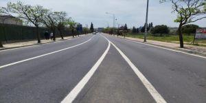 Gebze Ankara Caddesi'nin yol çizgileri çizildi