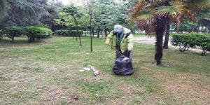 Mesire yerleri ve yeşil alanlara temizlik çalışması