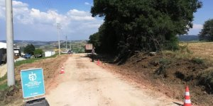 Himmetli köy yolu genişletiliyor
