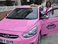 Kadınlara özel 'pembe taksi'