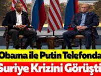 Obama ile Putin Telefonda Suriye Krizini Görüştü