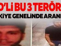 İşıd'li Bu 3 Terörist Türkiye Genelinde Aranıyor