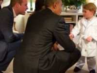 Prens George'un Obama ile Tanıştığı Fotoğraf, Sosyal Medyayı Salladı
