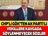 CHP'Lİ GÖK'TEN AK PARTİ'Lİ VEKİLLERE KAVGADA SÖYLENMEYECEK SÖZLER