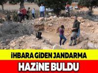 İHBARA GİDEN JANDARMA HAZİNE BULDU