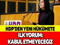 HDP'DEN YENİ HÜKÜMETE İLK YORUM: KABUL ETMEYECEĞİZ
