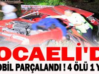 KOCAELİ'DE OTOMOBİL PARÇALANDI ! 4 ÖLÜ 1 YARALI