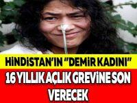 16 YILDIR BURNUNDAN BESLENEN ''DEMİR KADIN'' AÇLIK GREVİNE SON VERİYOR ..