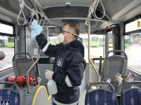 Otobüsler her gün temizleniyor