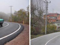 Köy yollarına 30 km çizgi çekildi