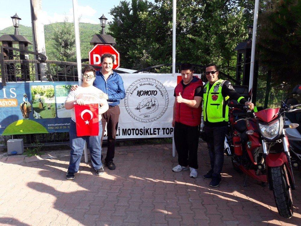 Engelli Öğrenciler Motosiklete Bindi, Doyasıya Eğlendi
