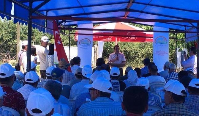 Çan Karakoca Köyünde Arpa Tarla Günü Yapıldı