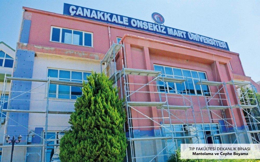 Çomü'de Kampüs Yenileme Çalışmaları Devam Ediyor