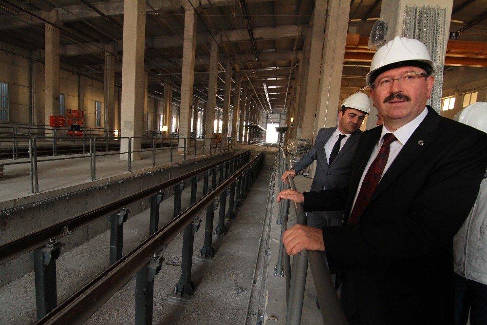 Genel Sekreter İlhan Bayram, Ulaşım Park'ın Çalışmalarını İnceldi