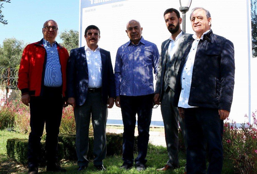 Prof. Dr. Aktay, İş Adamlarıyla Edremit'teki Termal Tesiste İncelemede Bulundu