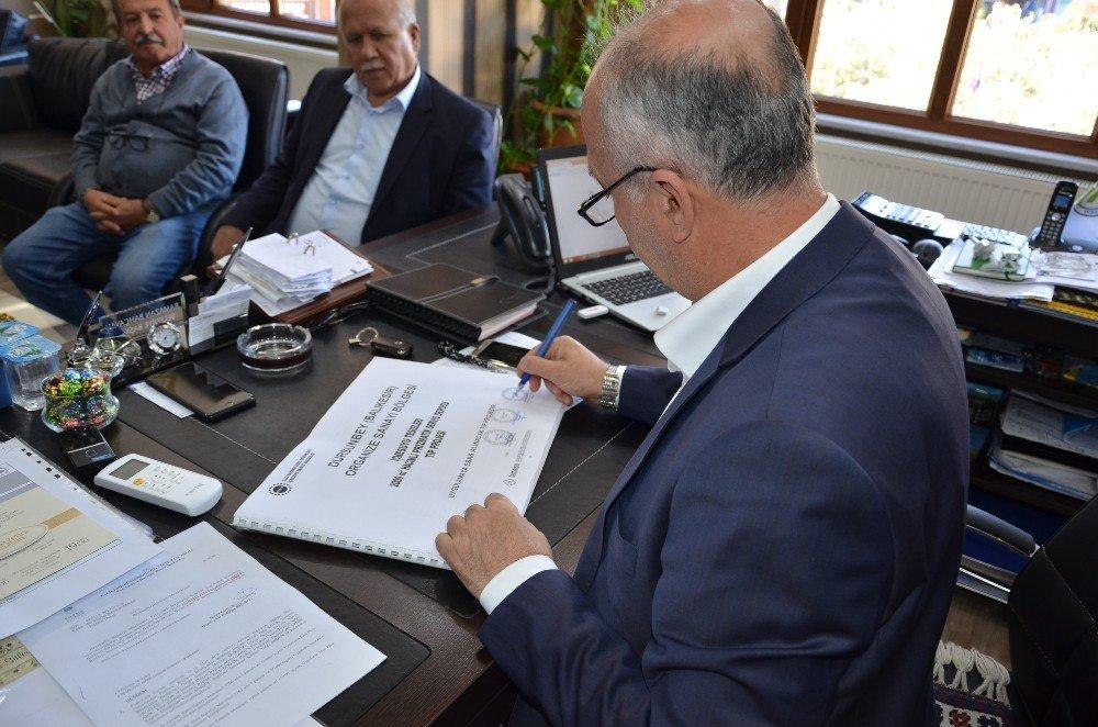 Dursunbey Osb'de Altyapı Uygulama Projeleri İmzalandı