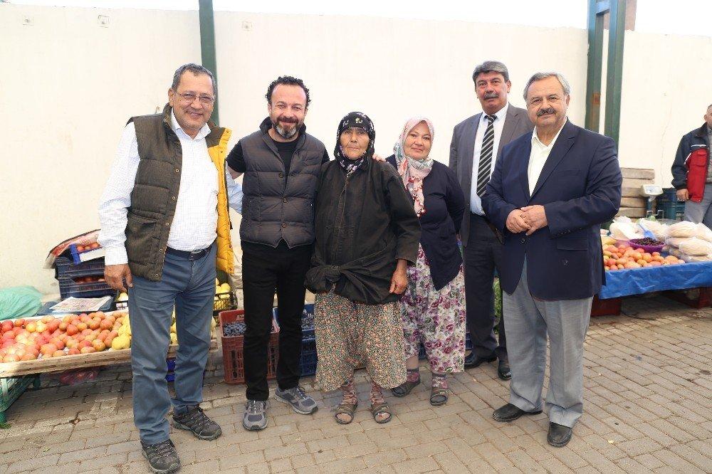 Başkan Uysal, Aktaş'la Pazaryeri Esnafını Ziyaret Etti