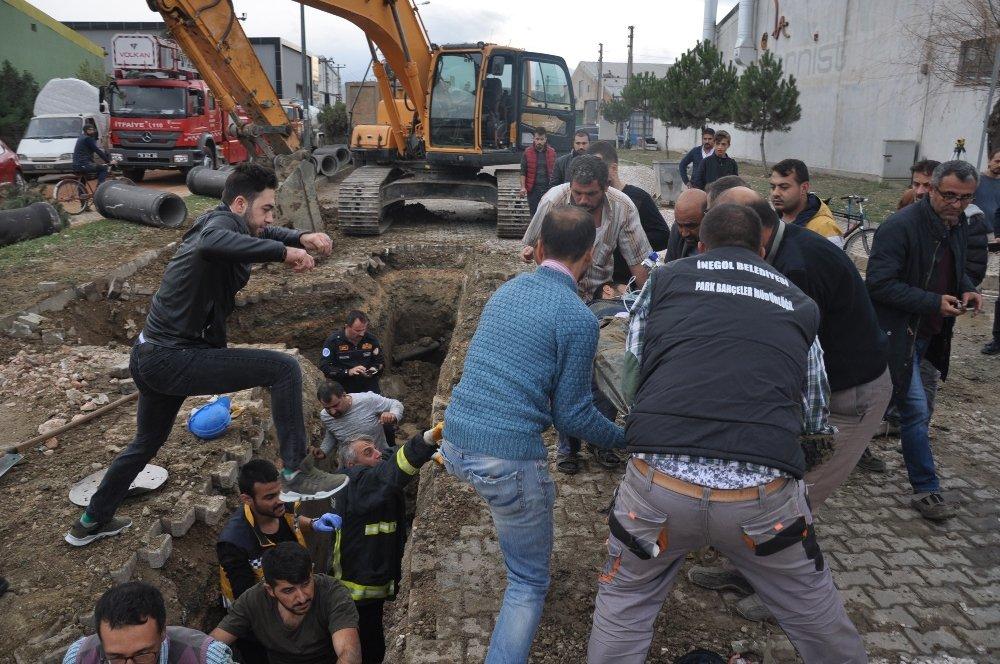 Bursa'da Altyapı Çalışmaları Sırasında Göçük: 1 Ölü