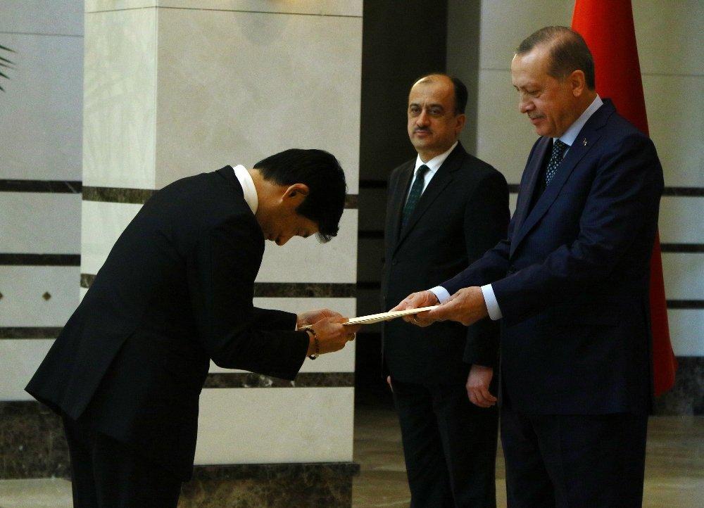 Erdoğan, Japonya Büyükelçisini Kabul Etti