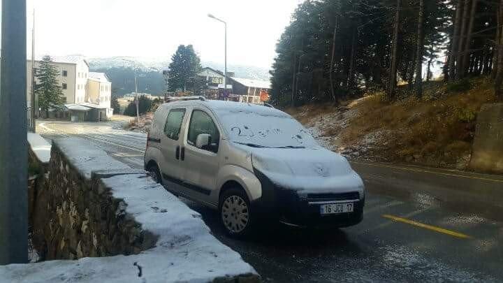 29 Ekim'de Uludağ'da Kar Sürprizi