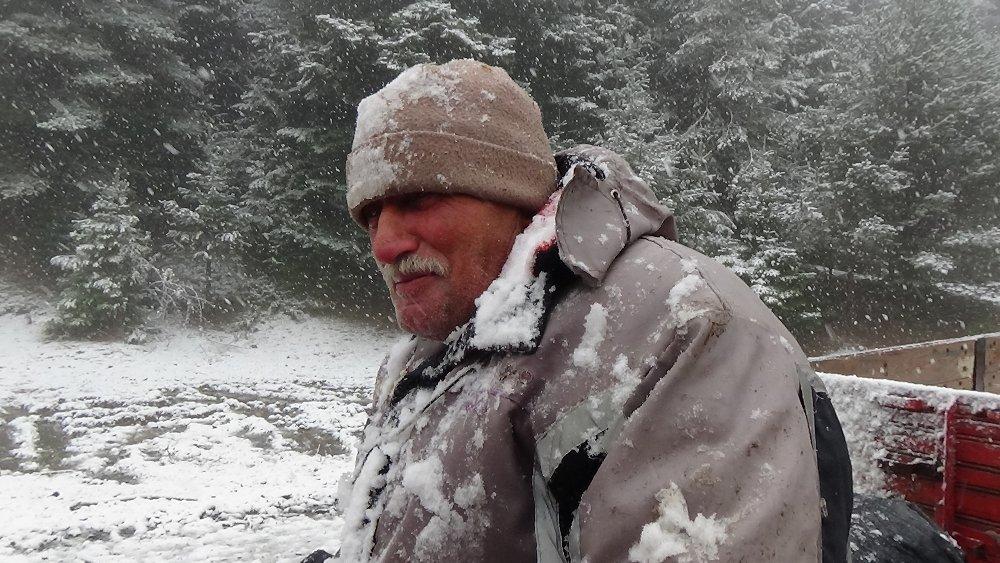 Bolu'da Kar Yaşı Başladı