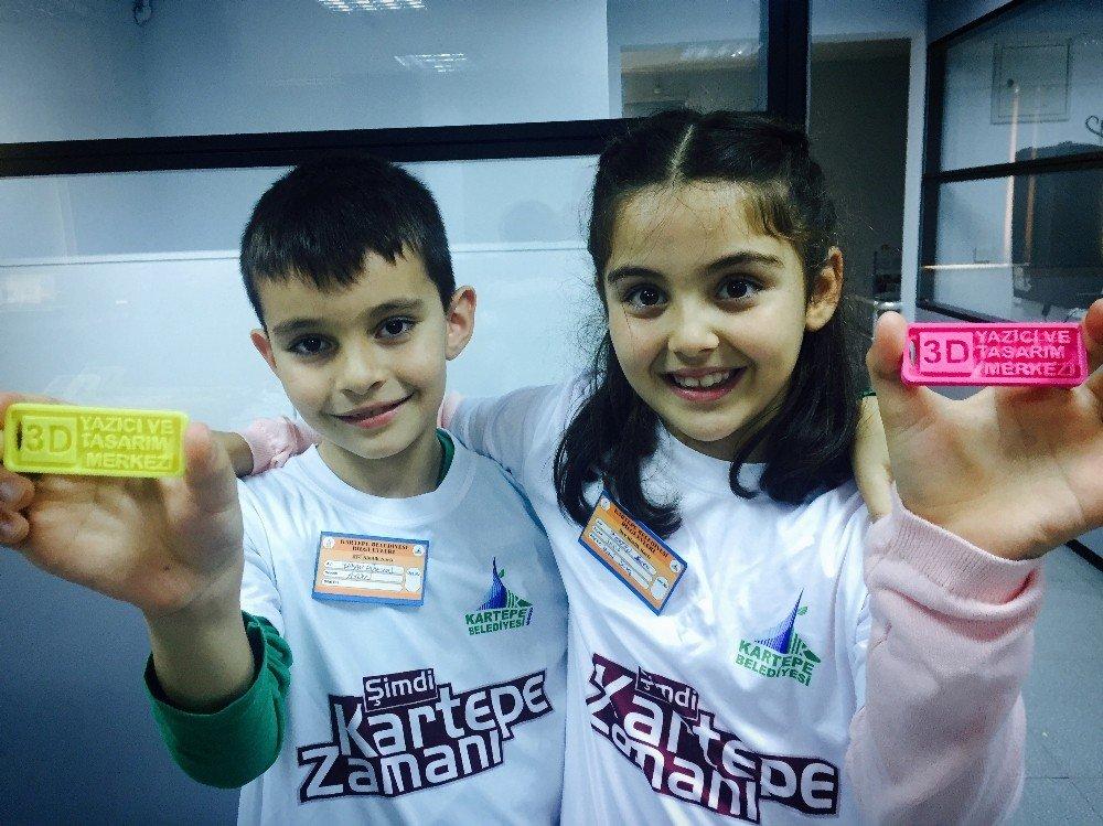 Kartepeli Çocuklar, 3d Yazıcı Ve Tasarım Merkezi'ni Gezdi