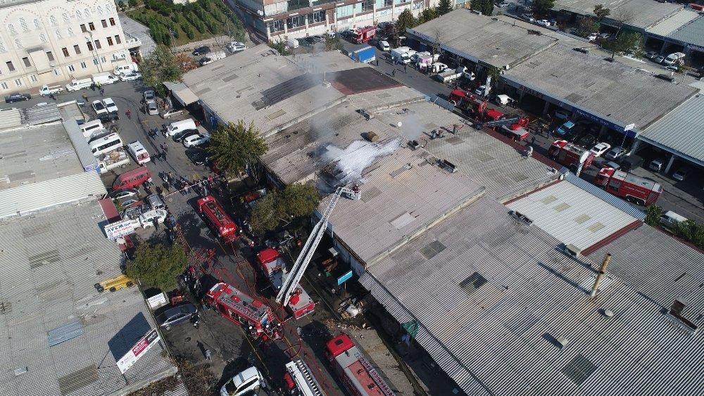 İstanbul'da Sanayi Sitesinde Yangın