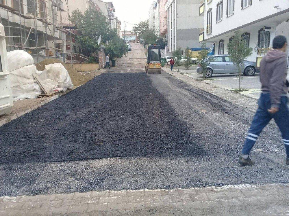 Çamlıtepe'nin Cadde Ve Sokaklarına Asfalt Döküldü